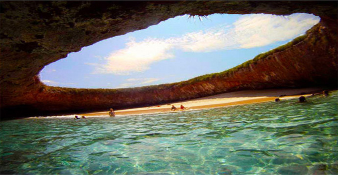 Hidden Beach Marieta Islands by Puerto Vallarta, Mexico