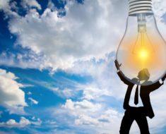 Talk Fusion - man holding lightbulb